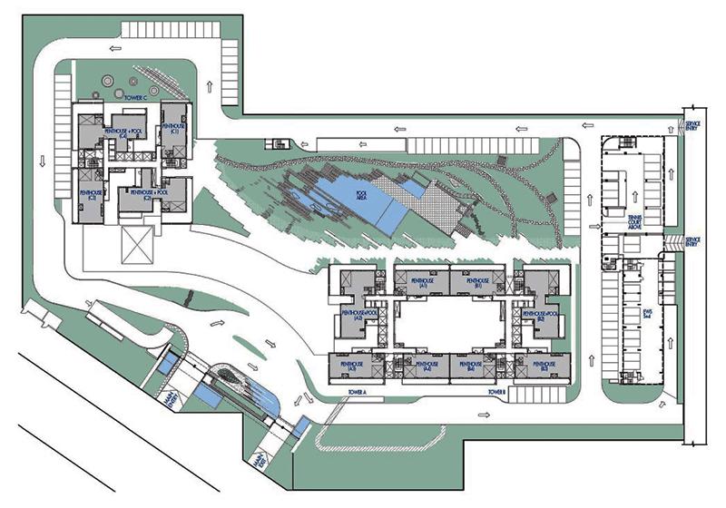 krisumi waterfall residence site plan
