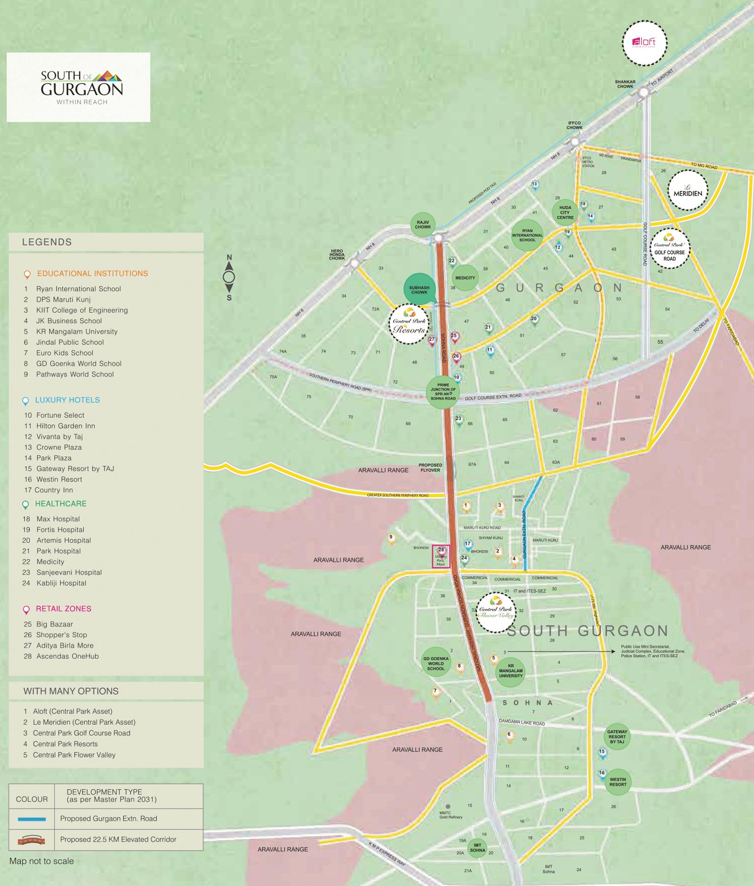 aqua front tower location map