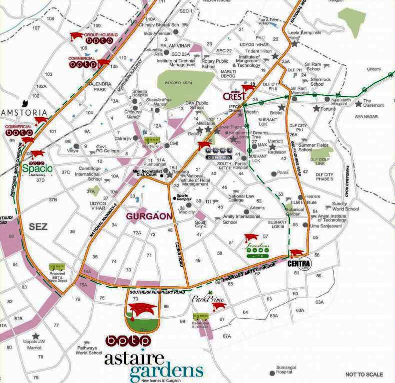 astaire garden location map