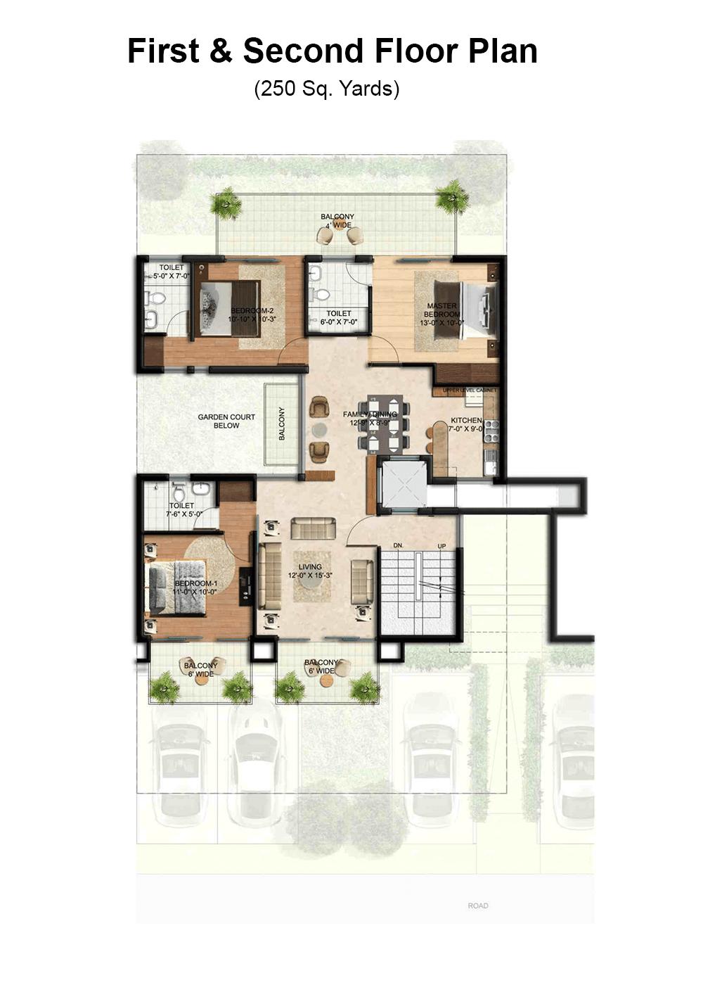 Bptp astaire garden floor plan