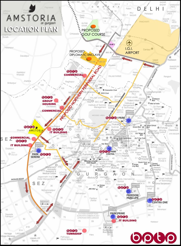 bptp amstoria location map