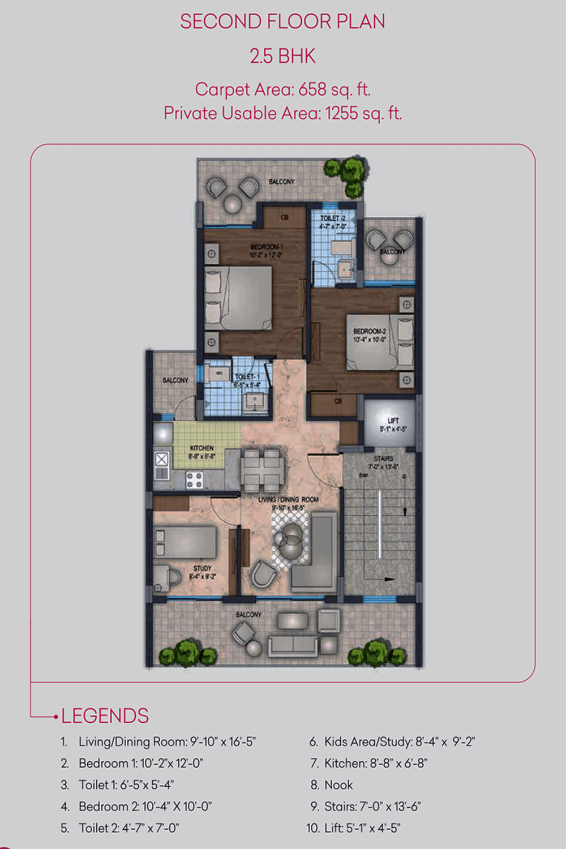 cerise suites floor plan