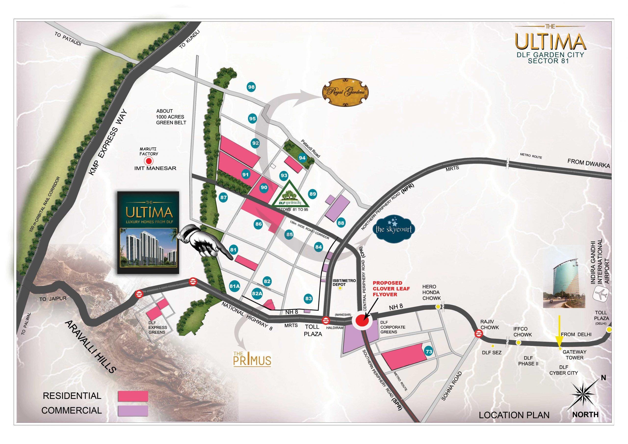 dlf location map