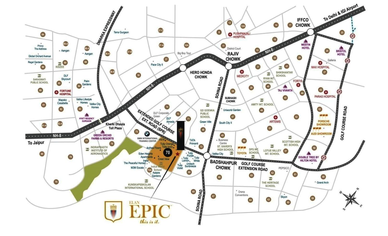 elan epic location map