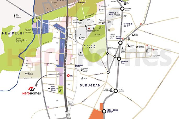 hero homes location map