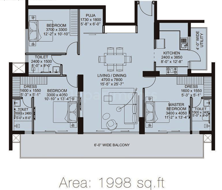 ild arete floor plan