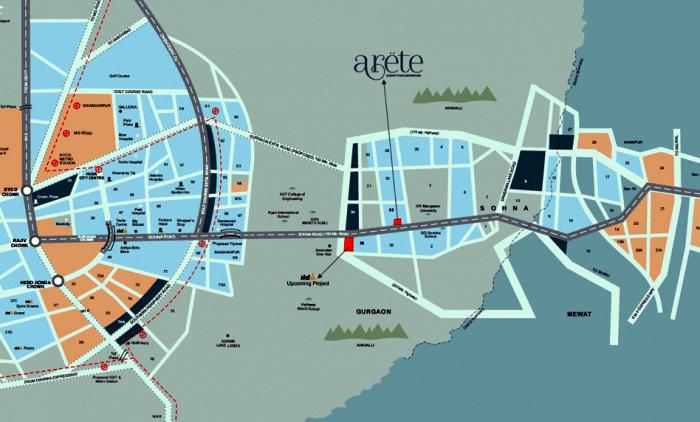 ild arete location map