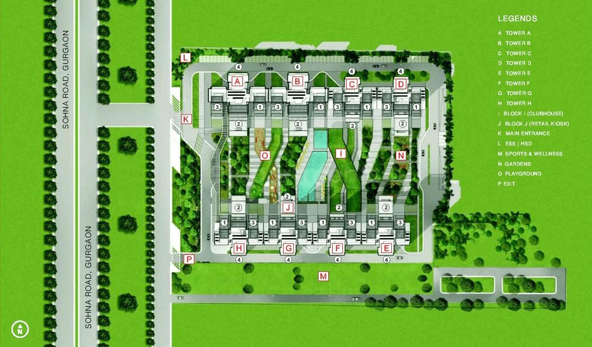 ild arete site plan
