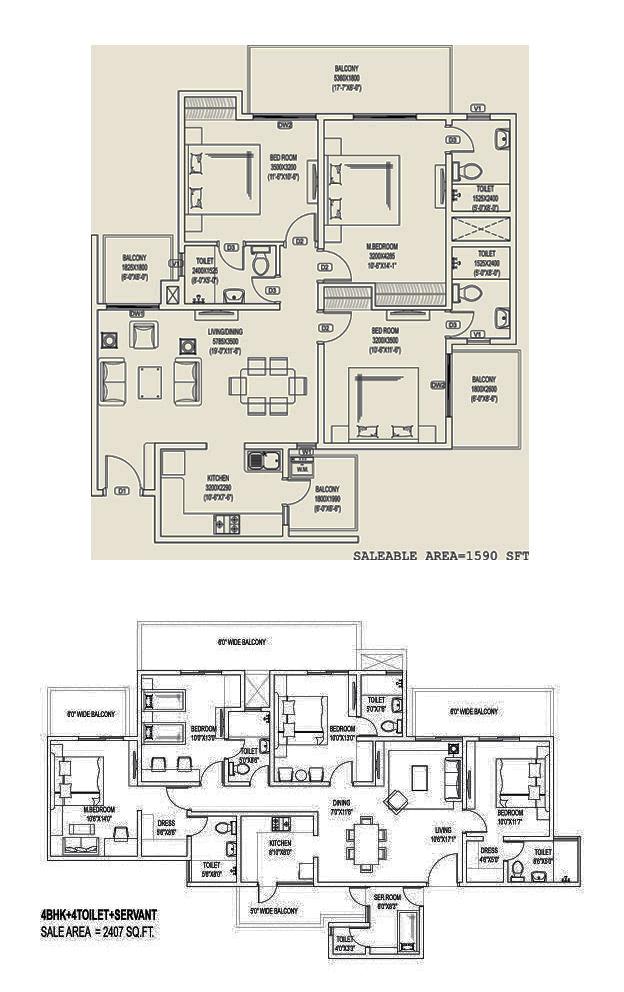 aqua front tower floor plan