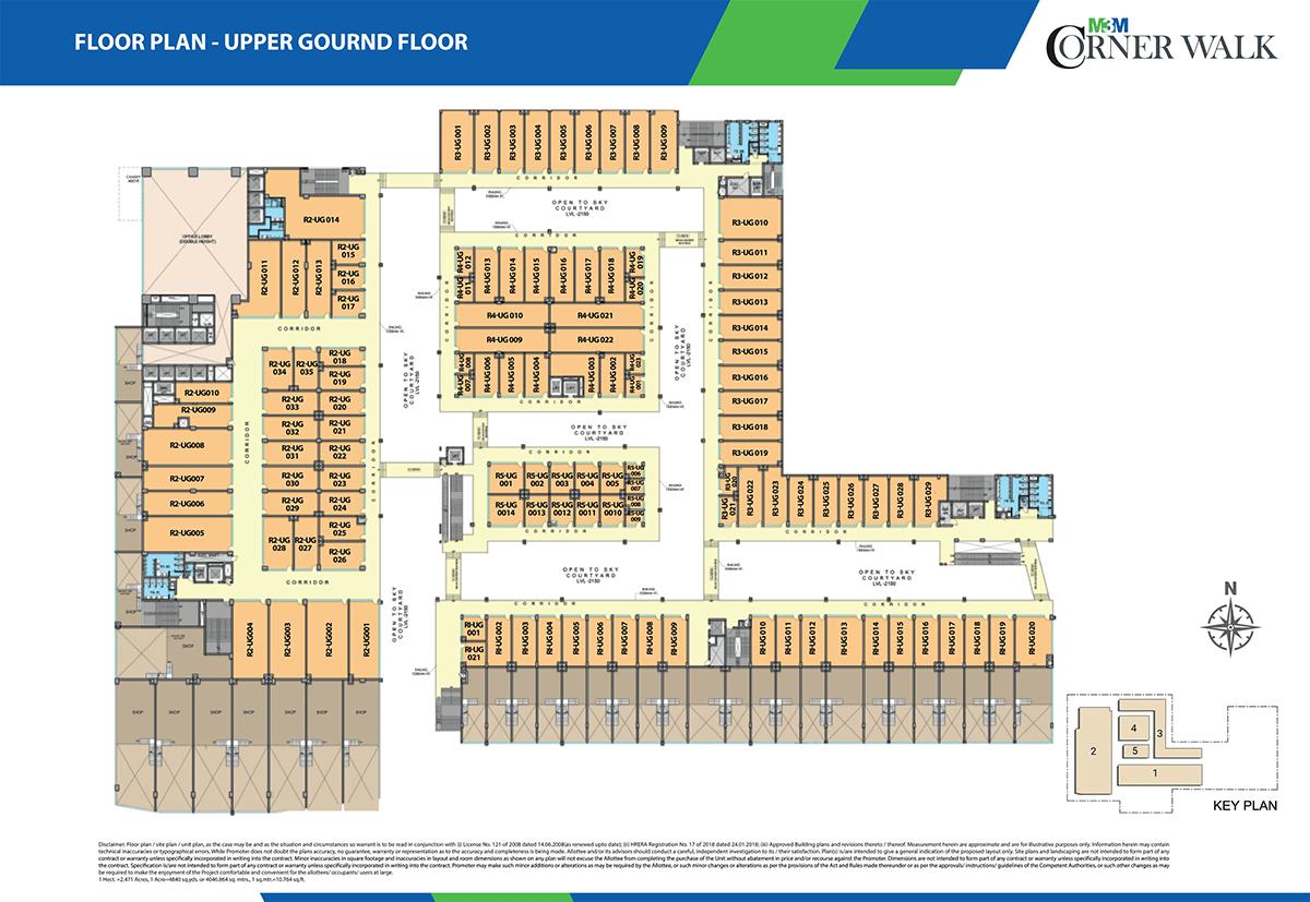 m3m corner walk floor plan