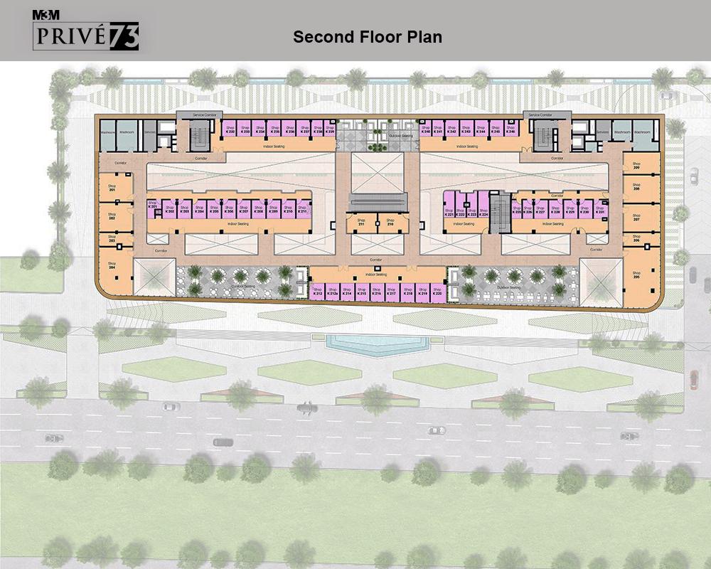 m3m prive floor plan