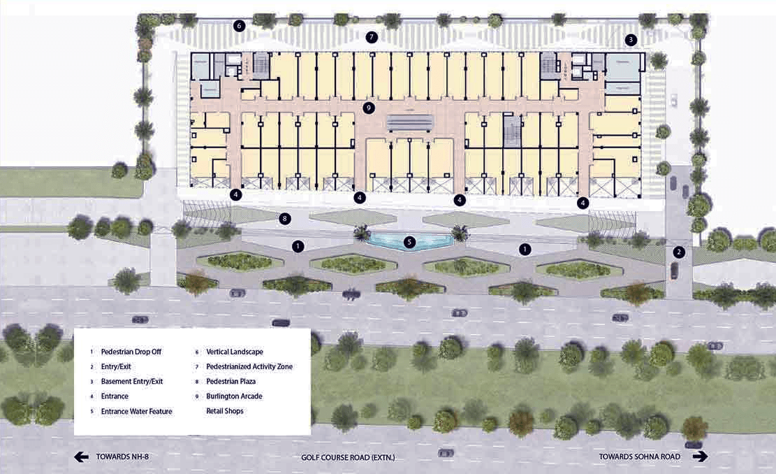 m3m prive site plan