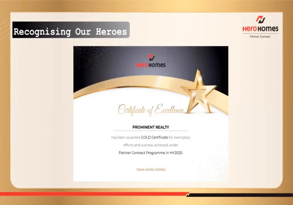 Hero Home Certificate