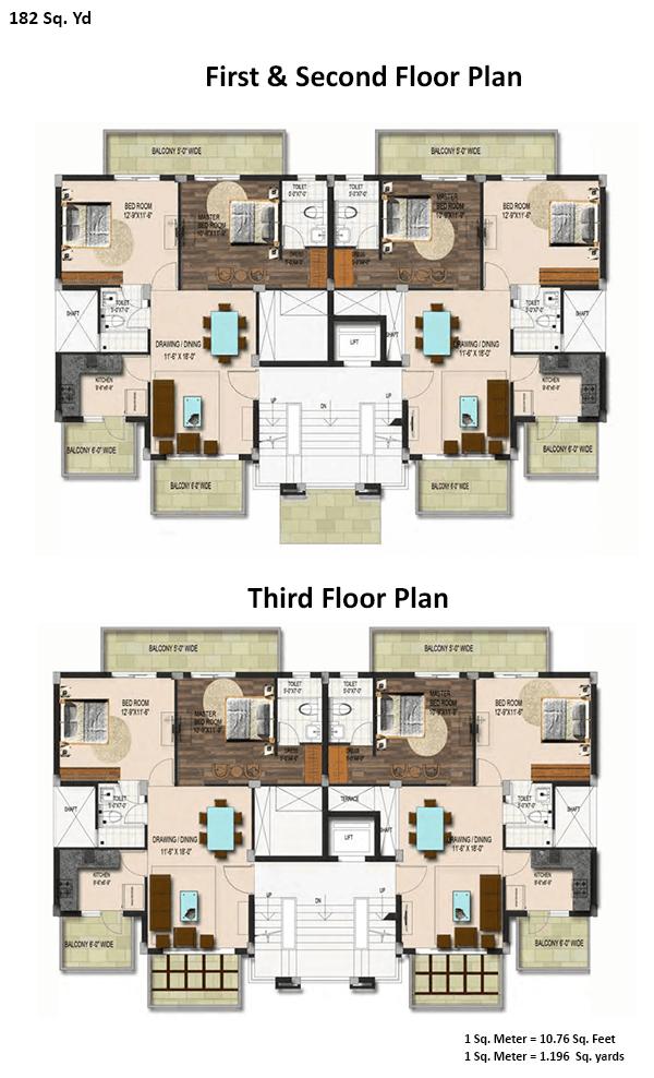 pedestal floor plan