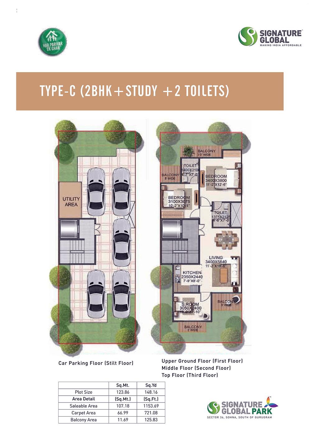 signature park 2 & 3 floor plan