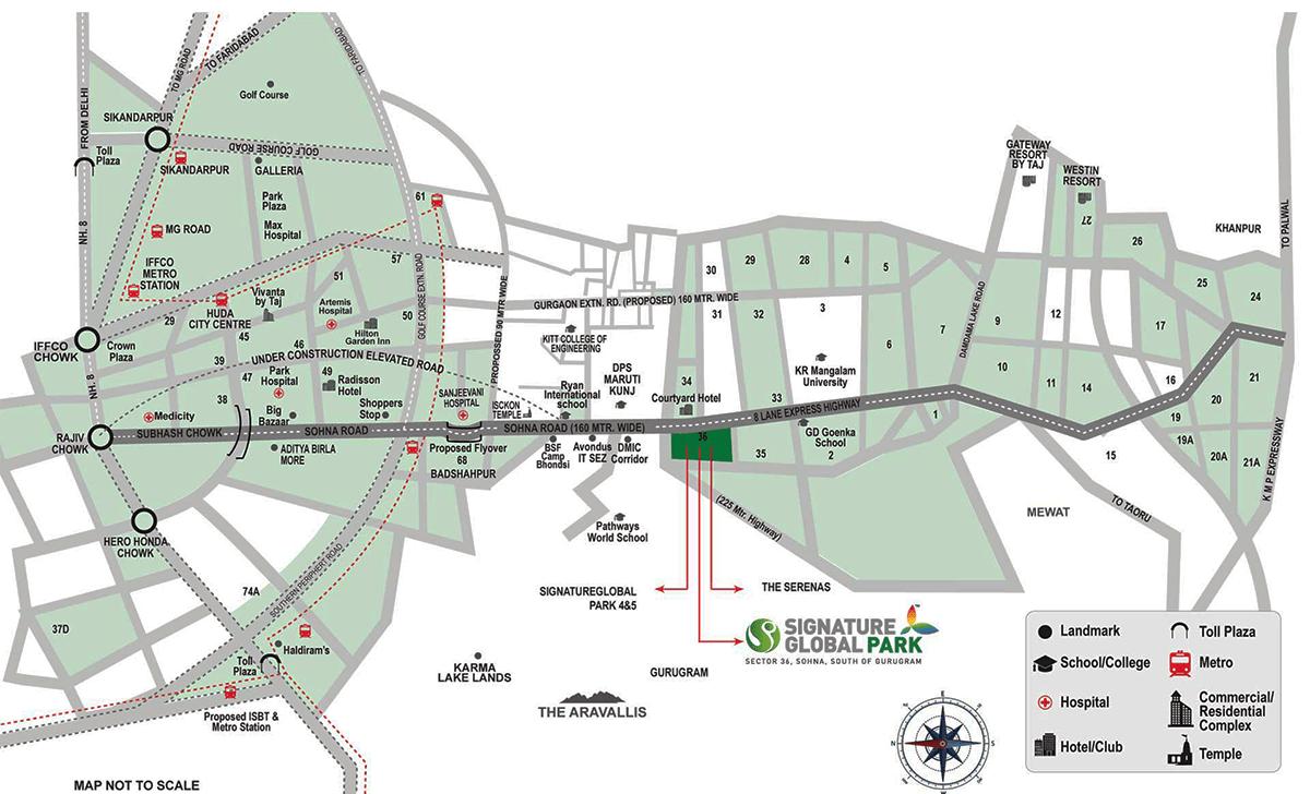 signature park 2 location map