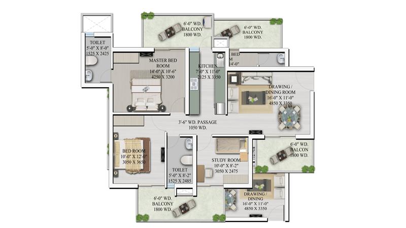 supertech hilltown floor plan