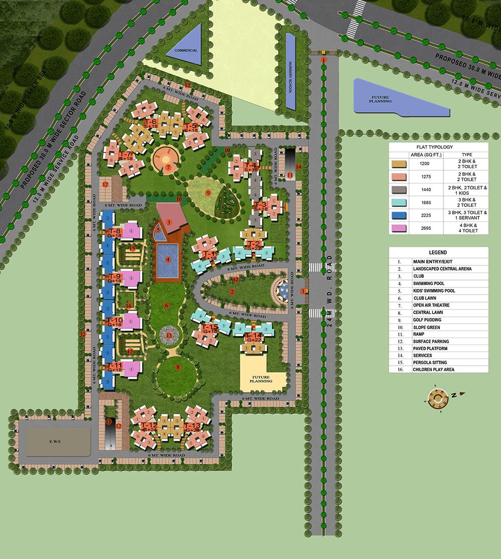 supertech hilltown site plan