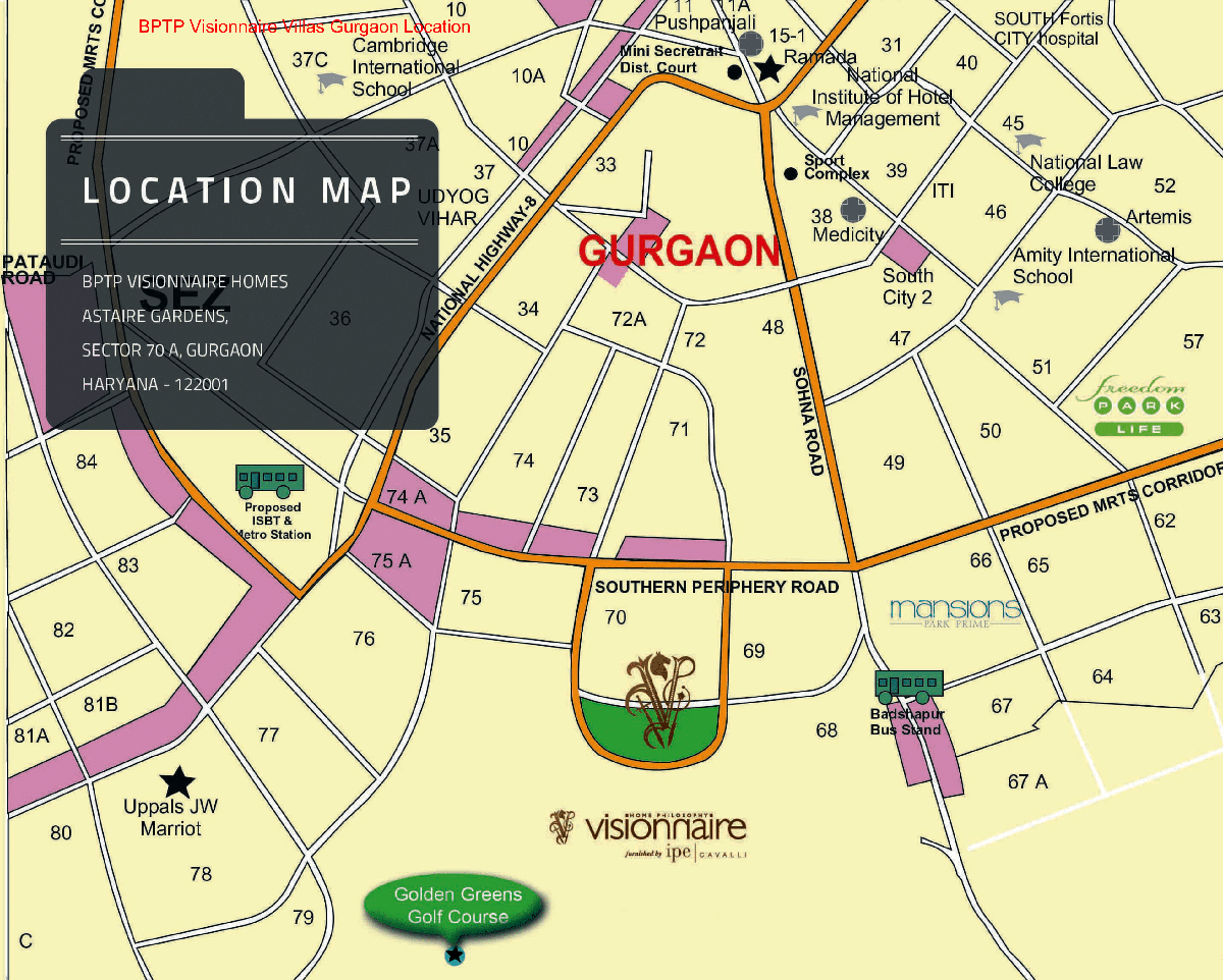 visionaire location map