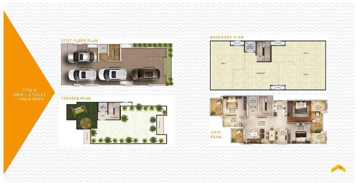 signature global 37D Floor Plan